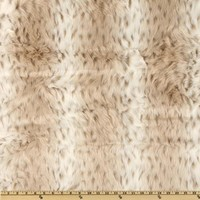 Faux Fur Snow Leopard White/Taupe