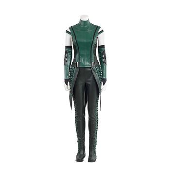 Guardians of the Galaxy 2 Costume Mantis Outfit Cosplay Costume Adult Women Green Full Sets Halloween Carnival