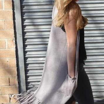 Wild West Fringe Duster Vest