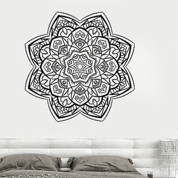 Wall Vinyl Sticker Mandala Enzo Circle Meditation Yoga Studio Decor (z2908)