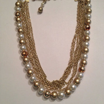 Shop Faux Pearl Necklace Costume Jewelry on Wanelo