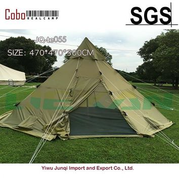 Winterial Teepee Tent Survival Camping Polyester Tee Pee Screened Doors  Festivals Summer Hiking Outdoor Olive