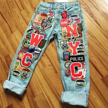 WCNYC? Patchwork jeans