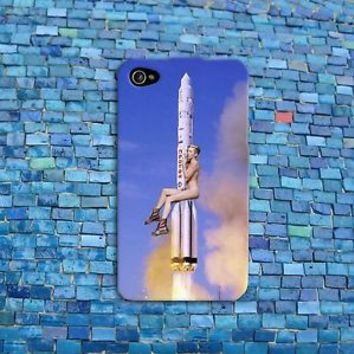 Miley Cyrus Riding Rocket Funny Phone Case iPhone 4 5 5c 5s 4s 6 Plus + Hot iPod