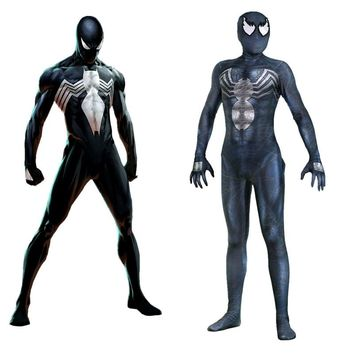 Movie Venom cosplay costume Jumpsuits Adult Size Eddie Brock Venom Symbiote Bodysuit Halloween