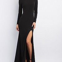 CITY TRIANGLES LACE-BACK MAXI GOWN