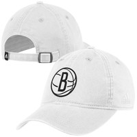 adidas Brooklyn Nets Basic Adjustable Slouch Hat - White