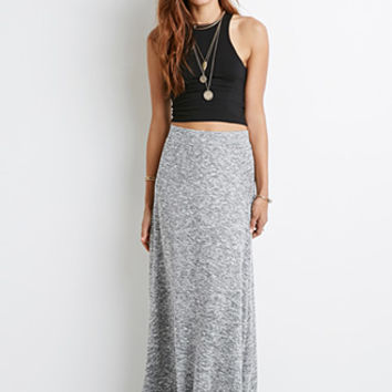 Marled Knit Maxi Skirt