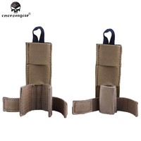Emersongear Tactical Military Radio Antenna Relocation Small Molle Pouch Emerson Army Airsoft Combat Gear EM8326 Dark Earth