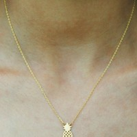 Layer It Necklace - Pineapple