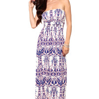 Royal Blue Luminate Maxi Dress