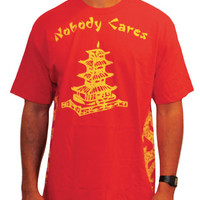 The Nobody Cares Tee in Red