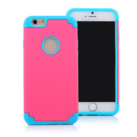 iPhone 6 Cases 2 in 1 Sillicon Case Dual Color Protective Cover Anti-shock for Mobile Phone Cellphone 4.7 inch iPhone6