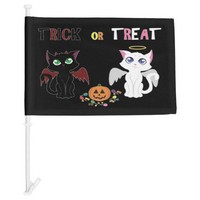 Trick or Treat Kittens Car Flag