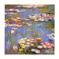 Water Lilies, 1916 Print by Claude Monet at Art.com