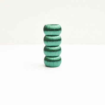 Teal Napkin Rings, Set of Four, Beachy Summer Table Decoration