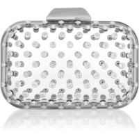 Jimmy Choo - Ice Cube crystal-embellished Perspex clutch