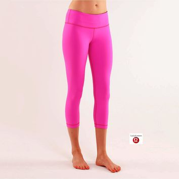 Lululemon Wunder Under Crop Women Sport Leggings Pants Trousers