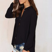 Fly By Cape Blouse - Black
