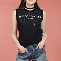 New York Distressed Tee