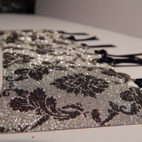 Black and Silver Glitter Tags