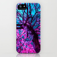 Purple Tree XII iPhone Case by blackpool | Society6