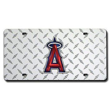 LA Angels of Anaheim Laser Cut Diamond Plate License