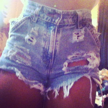 High waist shorts by lovendgunz on Etsy