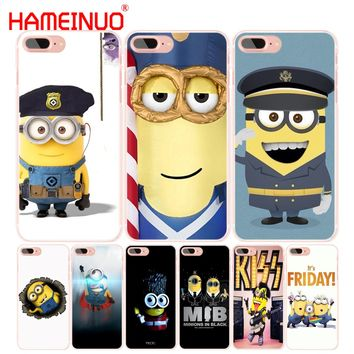 HAMEINUO Minion Soldier cell phone Cover case for iphone 6 4 4s 5 5s SE 5c 6s 7 8 plus X