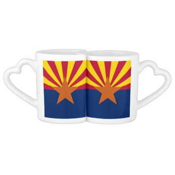 Patriotic lovers mugs with Flag of Arizona