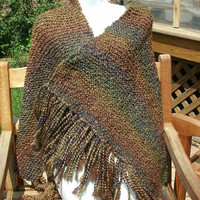 Prayer Shawl - In Prarie Earth Tones - Shawl Mother's Day