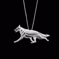 German Shepherd Pendant and Necklace
