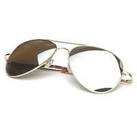Celebrity Mirrored Lens Metal Aviator Sunglasses 1375