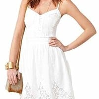 Women Sexy Boho Floral Crochet Evening Party Lace Beach Dress