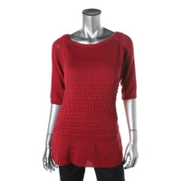 Miu Miu Womens Knit Boatneck Pullover Sweater