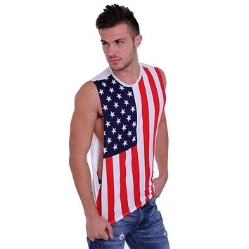 USA Flag Open Side Tank Top