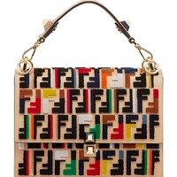 Fendi Kan I Logo Shoulder Bag - Multicolor Adjustable Shoulder Strap Bag