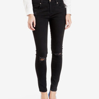Black distressed skinny jeans - Black | Denim | Ted Baker