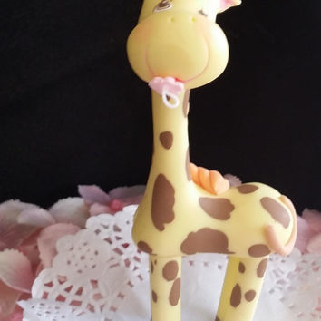 Elephant Baby Shower Decoration Baby Elephant Cake Topper, Jungle Safari Baby Shower, Elephant Zebra Giraffe Monkey Lion Baby Shower Decor