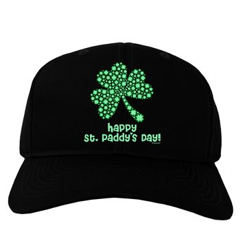 Happy St. Paddy's Day Shamrock Design Adult Dark Baseball Cap Hat by TooLoud