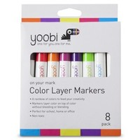 Yoobi 8ct Color Layer Markers - Multicolor