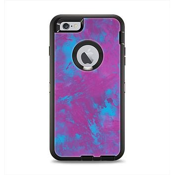 The Purple and Blue Paintburst Apple iPhone 6 Plus Otterbox Defender Case Skin Set