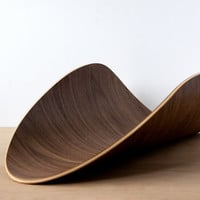 Magazine Tray - Walnut - Bent Plywood