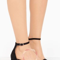Black Velvet Low-Block Heel
