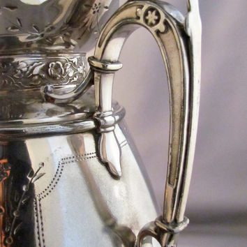 SILVER SAMOVAR ANTIQUE........extensively engraved, mounted onto warming base, exquisite 1880s