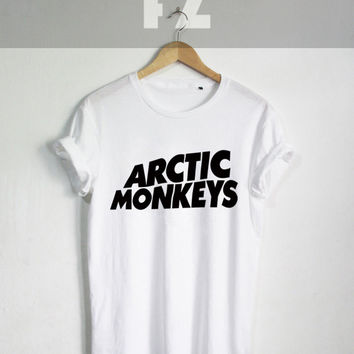 Arctic Monkeys Shirt The Artic Monkeys T-shirt Tee Shirt Black and White Unisex Size - NK40