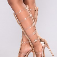 Gladiator Queen Heel - Rose Gold