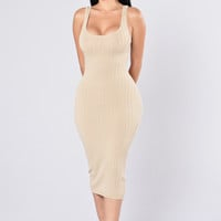 Got Plans? Dress - Taupe