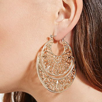 Cutout Filigree Drop Earrings