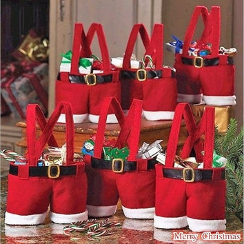 1PC Christmas X-mas Candy Bag Gift Bag (Color: Red) = 1705623684